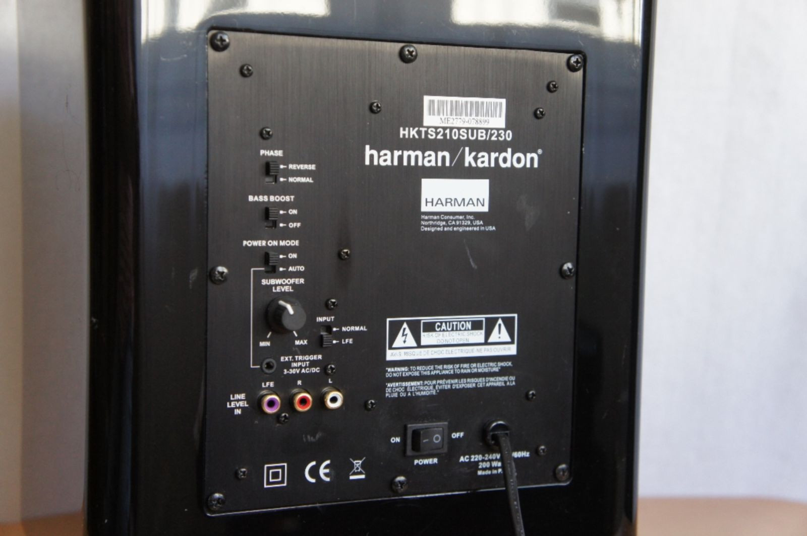 harman kardon hkts 210sub 230 subwoofer ebay. Black Bedroom Furniture Sets. Home Design Ideas
